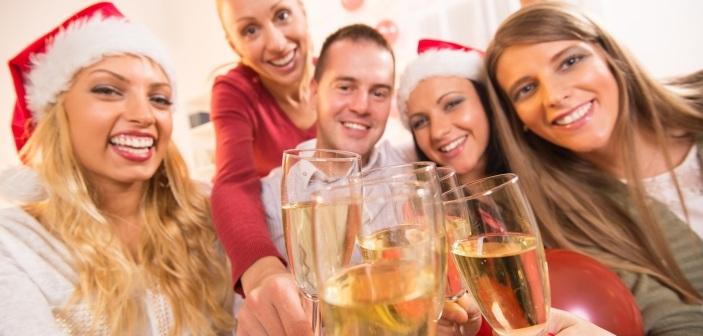 Julefejring med champagne